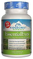 Комплекс для Защиты и Улучшения Зрения, EssentialEyes, RidgeCrest Herbals, 120 гелевых капсул