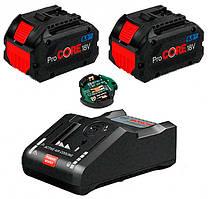2 аккумулятора Bosch ProCORE18V 8.0Ah + ЗУ GAL 18V-160 C + GCY 30-4 (1600A016GP)
