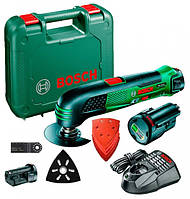 Акумуляторний мульті інструмент Bosch PMF 10,8 LI, 2 акб 2 Ah + 1 акб 1,5 Ah (0603101926A)