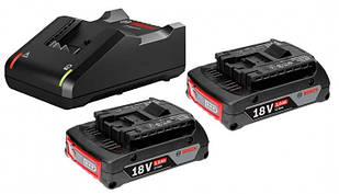 Комплект 2 акб Bosch GBA 18V 2.0Ah M-B + GAL 18V-40 Professional (1600A019RJSET)