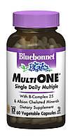Мультивитамины с железом, MultiONE, Bluebonnet Nutrition, 60 гелевых капсул