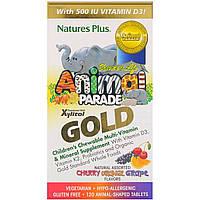 Мультивитамины для Детей, Вкус Ассорти, Animal Parade Gold, Natures Plus, 120 жевательных таблеток
