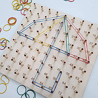 Геоборд развивающая обучающая доска с таблицей умножения Геоборд розвиваюча гра з таблицею множення