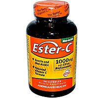 Эстер-С с Бифлавоноидами, Ester-C, American Health, 1000 мг, 90 капсул