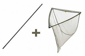 Посадочная сетка LevelM 100 x 100 см + Ручка для посадочной сетки Professional Mivardi (M-LNLM40SET)