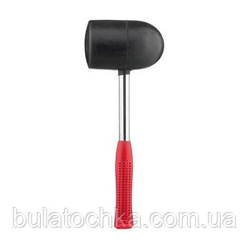 Киянка резиновая 1250г. 90мм. черная резина, металлическая ручка. INTERTOOL HT-0228