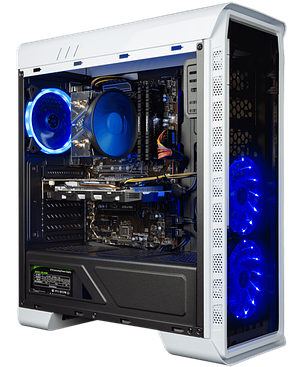 GameMax Elysium White MT / Intel® Core™ i7-8700K (6 (12) ядер по 3.70 - 4.70 GHz) / 16 GB DDR4 / 120 GB SSD+1, фото 2