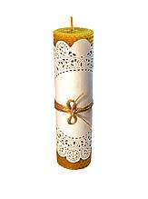 Свічка з вощини катана18 см на 4,8 см ручної роботи, час горіння - 5 годин.