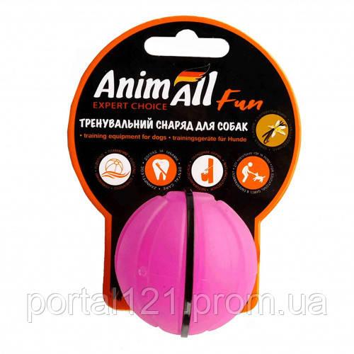 Игрушка AnimAll Fun тренировочный мяч для собак, 5 см, фиолетовая