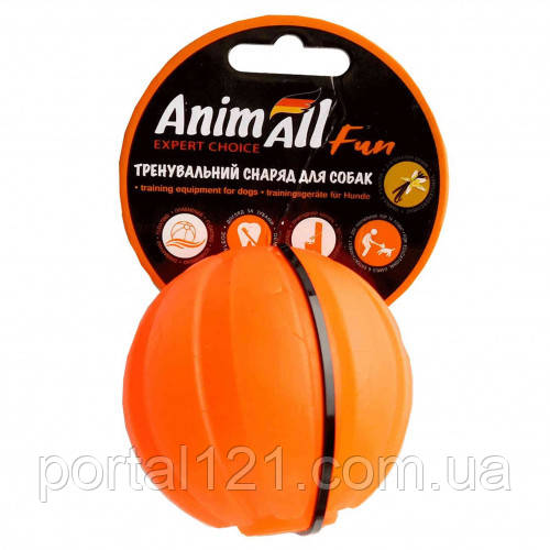Іграшка AnimAll Fun тренувальний м'яч для собак, 7 см, помаранчева