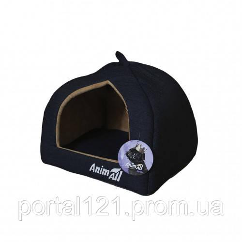 Домик, AnimAll Piter M, для собак, темно-синий, 41×41×32 см