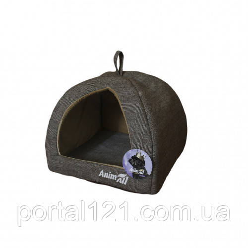 Домик, AnimAll Darling M, для собак, серый, 41×41×32 см