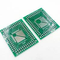 Плата макетная QFP FQFP TQFP LQFP 32-44-64-80-100 0,5 0,8 мм