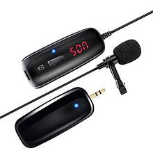 Беспроводной микрофон для телефона, смартфона петличный Savetek P7-UHF, до 50 метров