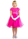 Ярко розовое платье  на утренник для девочек, фото 4