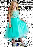 Детское  нарядное платье мятного цвета, фото 2