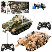 Игрушечный набор из двух танков Танковый бой на радиоуправлении, размер танка 26 см арт. DZ03