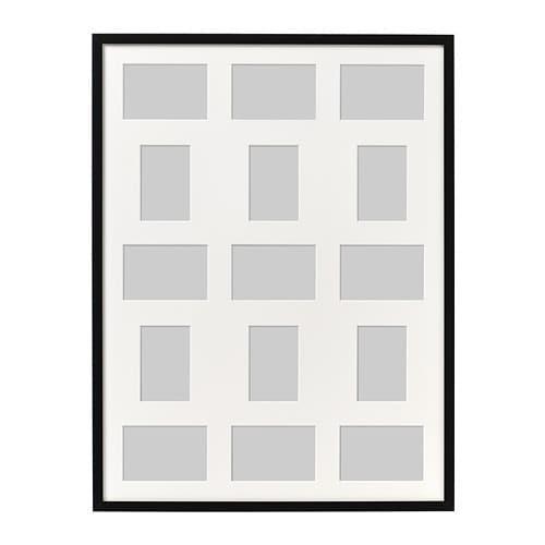 ИКЕА (IKEA) РИББА, 803.784.42, Рама для 15 картин, черный, 60x80 см - ТОП ПРОДАЖ
