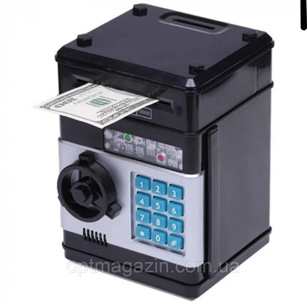 Скарбничка сейф з кодовим замком і купюропріємником Piggy Bank SAFE