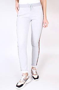 Спортивные штаны на флисе женские серые Sport 125394P