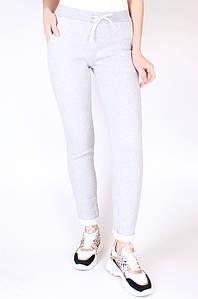 Спортивные штаны на флисе женские серые Sport 125396P
