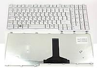 Некондиция: Клавиатура для ноутбука Toshiba Satellite A500 A505 L350 L355 L500 серебро RU бу