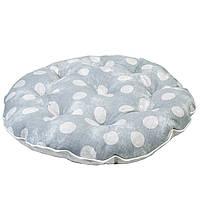 Подушка на стул круглая Allure Горох