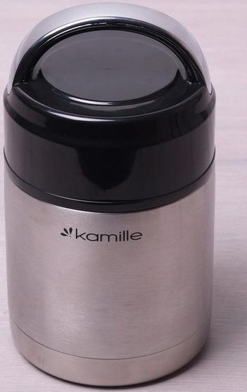 Термос пищевой Kamille Journey 1000мл из нержавеющей стали