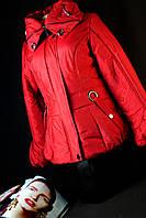 Куртка зимняя женская красная