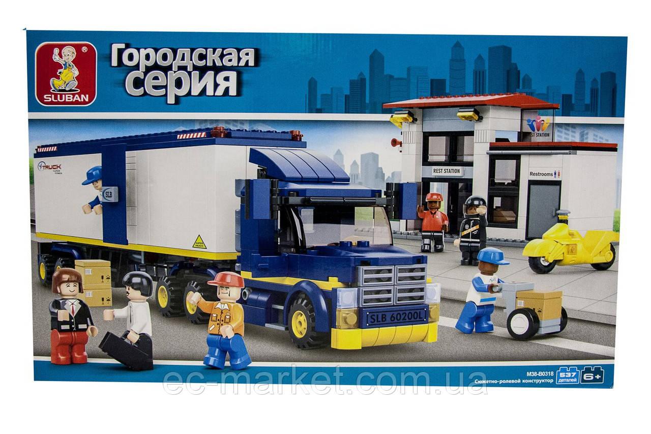 Конструктор Sluban Городская серия M38-B0318 (Дальнобойная фура) - Euro City Market в Киеве