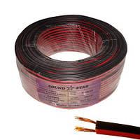 Кабель питания 2х0,22мм², омеднённый (ССА), красно-чёрный, фото 1