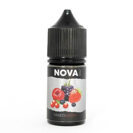 Жидкость для электронных сигарет NOVA Salt Mixed Berry 50 мг 30 мл, фото 2