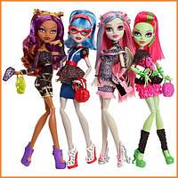 Набор кукол Monster High Клодин, Гулия, Рошель, Венера из серии Ghoul's Night Out Монстр Хай