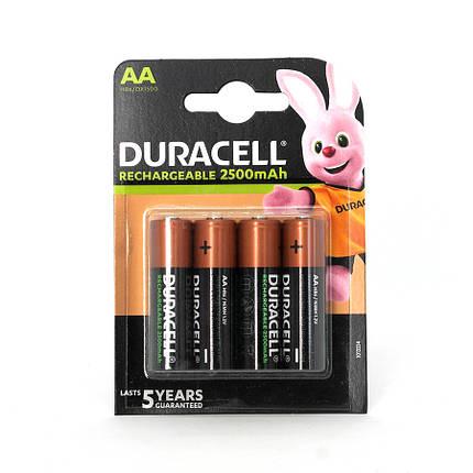Аккумулятор Duracell Recharge DX1500 2500 мАч блистер 4 шт, фото 2