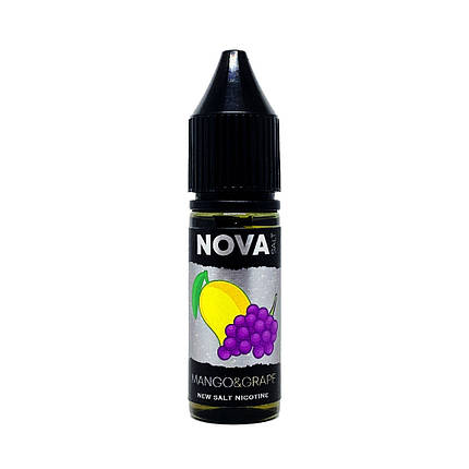 Жидкость для электронных сигарет NOVA Salt Mango Grape 30 мг 15 мл, фото 2