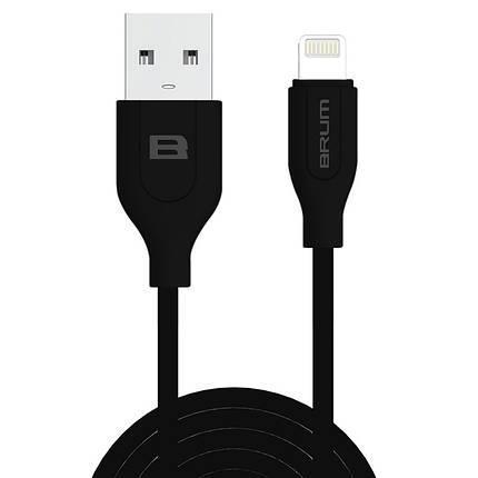 Кабель BRUM Classic U001i USB - Apple Lightning 2.1 А 1м Чёрный, фото 2