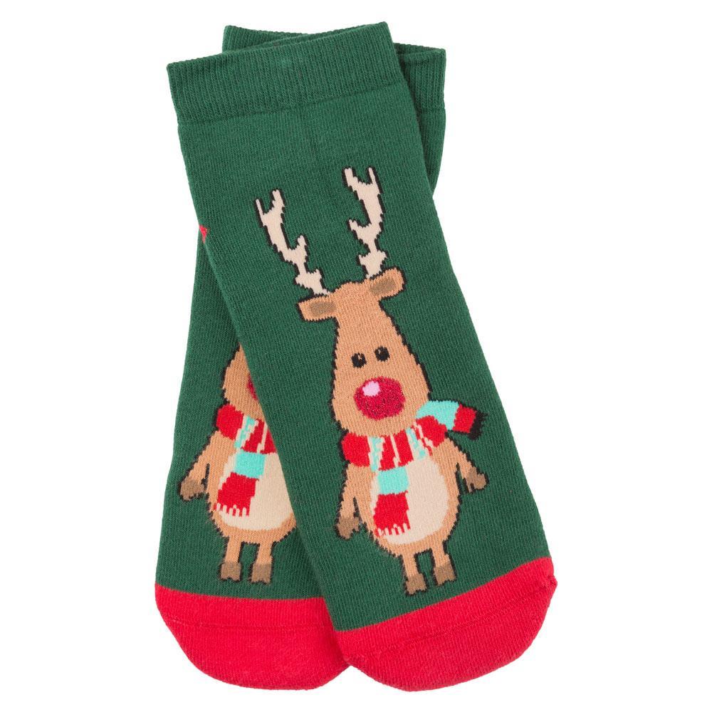 Шкарпетки жіночі новорічні, Еліот зелений