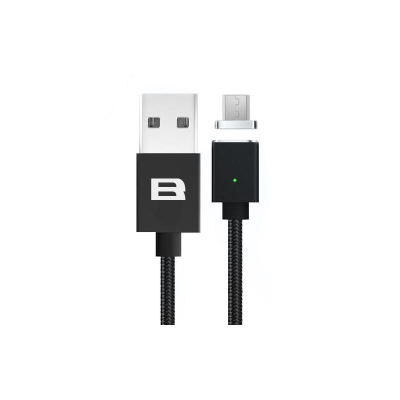 Кабель магнитный BRUM U005m USB - MicroUSB 2.1 А 1м Чёрный