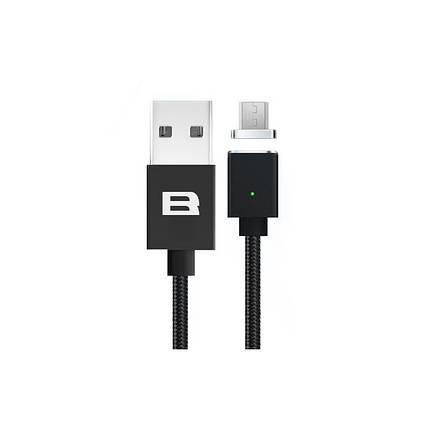Кабель магнитный BRUM U005m USB - MicroUSB 2.1 А 1м Чёрный, фото 2