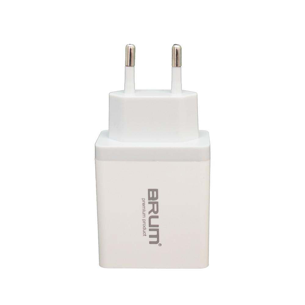 Сетевое зарядное устройство BRUM BM-SQ-002 QC3.0 5.4 A Белый