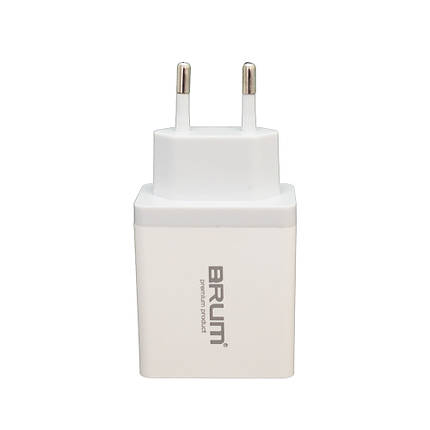 Сетевое зарядное устройство BRUM BM-SQ-002 QC3.0 5.4 A Белый, фото 2