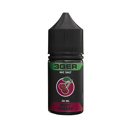 Жидкость для электронных сигарет 3Ger Salt Mint Cherry 50 мг 30 мл, фото 2