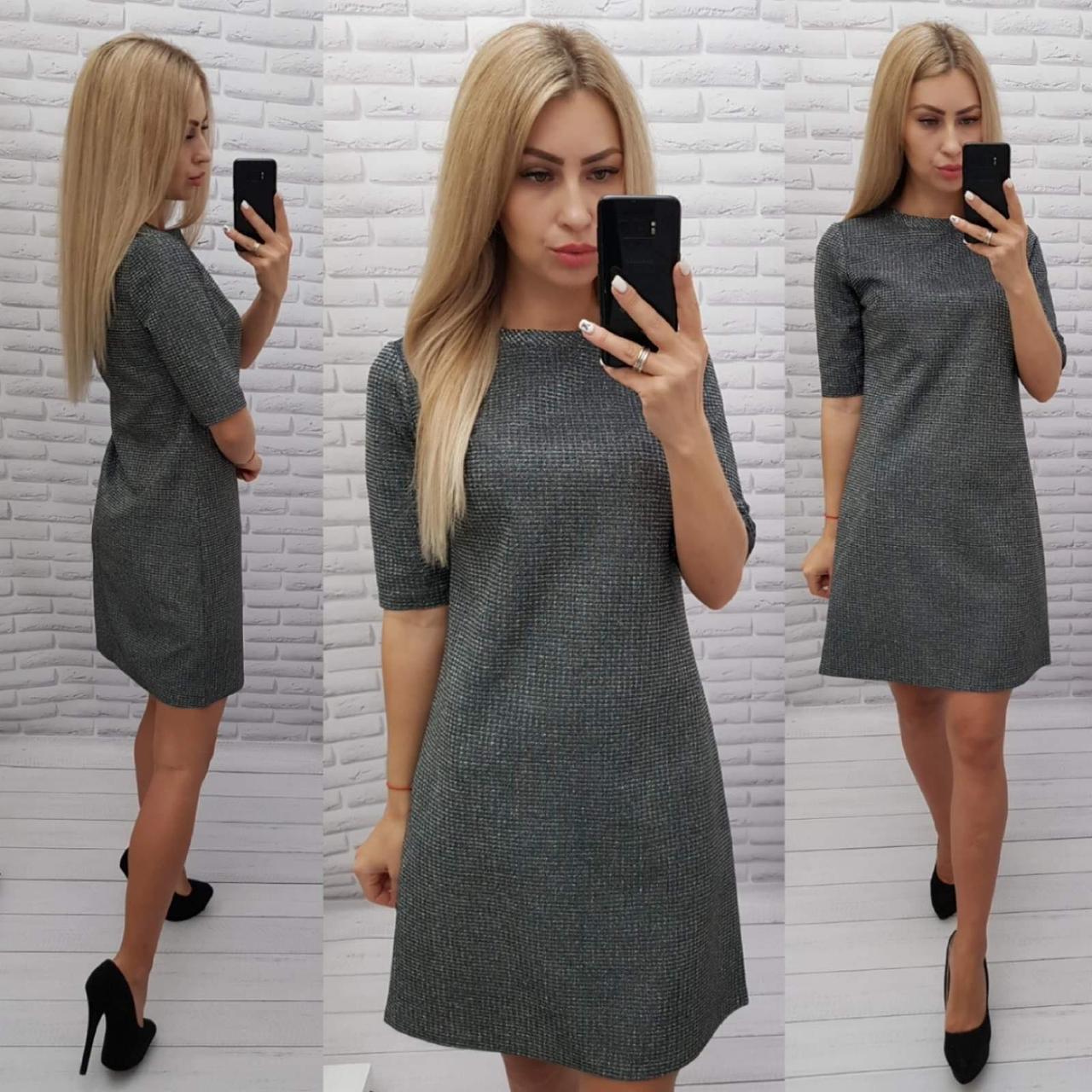 Женственное нарядное платье, черный М323/1