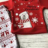 Теплый костюм новогодний на мальчика и девочку 10. Размер 68 см,  74 см, фото 2