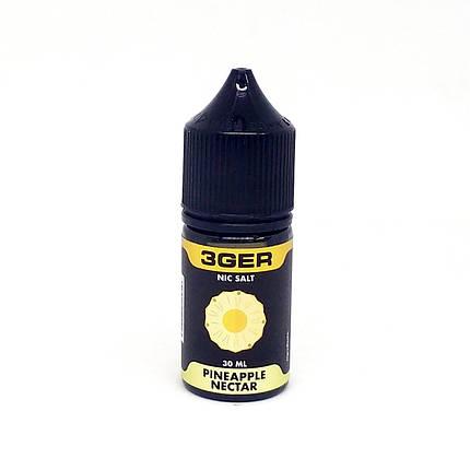 Жидкость для электронных сигарет 3Ger Salt Pineapple Nectar 50 мг 30 мл, фото 2