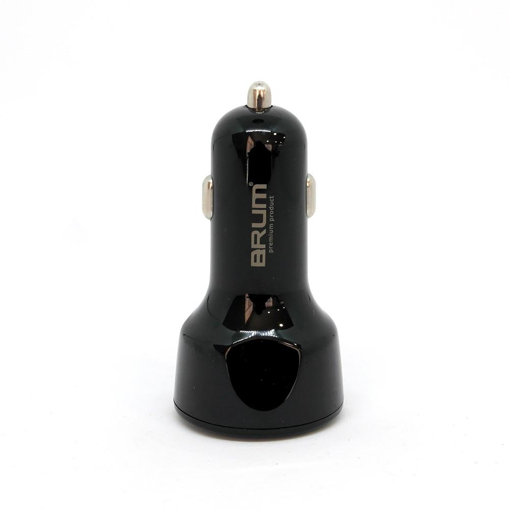Автомобильное зарядное устройство BRUM BM-AQ002 QC3.0 7 А Черный