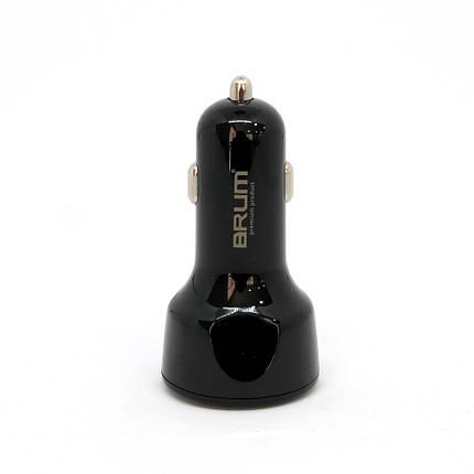 Автомобильное зарядное устройство BRUM BM-AQ002 QC3.0 7 А Черный, фото 2