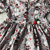 Новогоднее платье на девочку 3. Размер 68 см, 74 см, 80 см, 86 см, фото 2