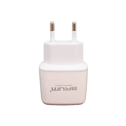 Сетевое зарядное устройство BRUM BM-S007 2.1 А Белый, фото 2
