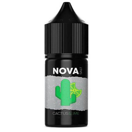 Жидкость для электронных сигарет NOVA Salt Cactus Lime 25 мг 30 мл, фото 2